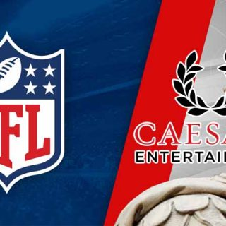 NFL Shield and Caesars Logo