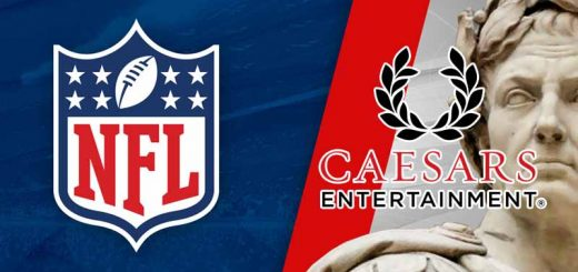 NFL Shield and Caesars Logo