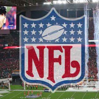 NFL Shield on field