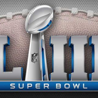 Super Bowl LIII Logo on football