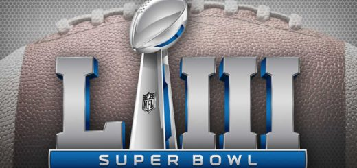 Super Bowl LIII Logo on football