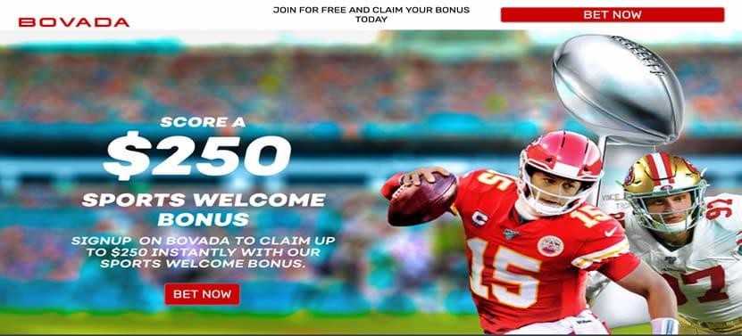 Bovada Special Super Bowl 54 SIgnup Bonus