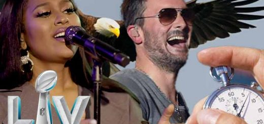 Jazmine Sullivan and Eric Church sing the Star-Spangled Banner at Super Bowl 55